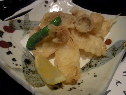 活蛸の天ぷら