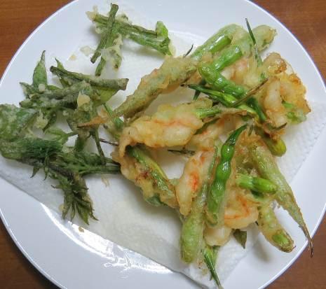 ダイコン鞘の天ぷら