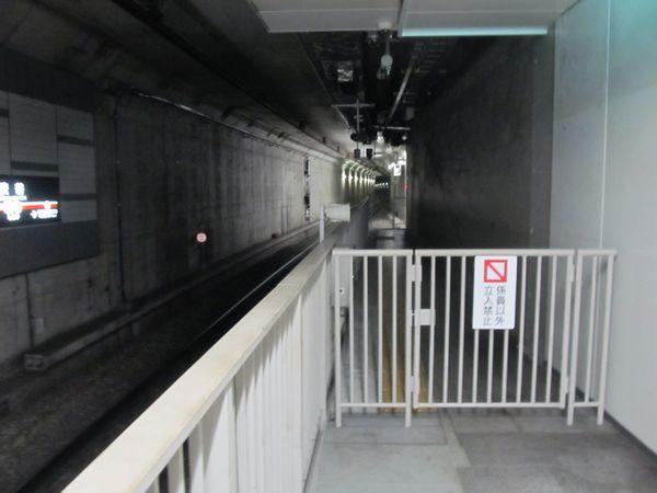副都心線渋谷駅ホームの池袋方。仮設ホームは全て撤去された。