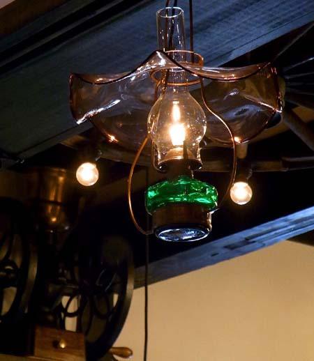 小樽ガラスのランプ