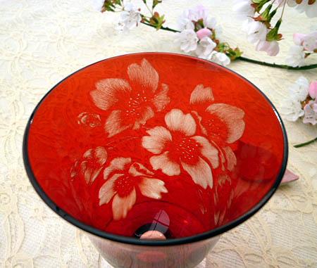 グラスの桜
