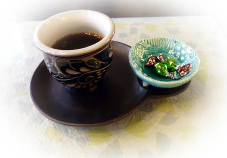 本日の試飲コ-ヒ- 石蔵&抹茶チョコ