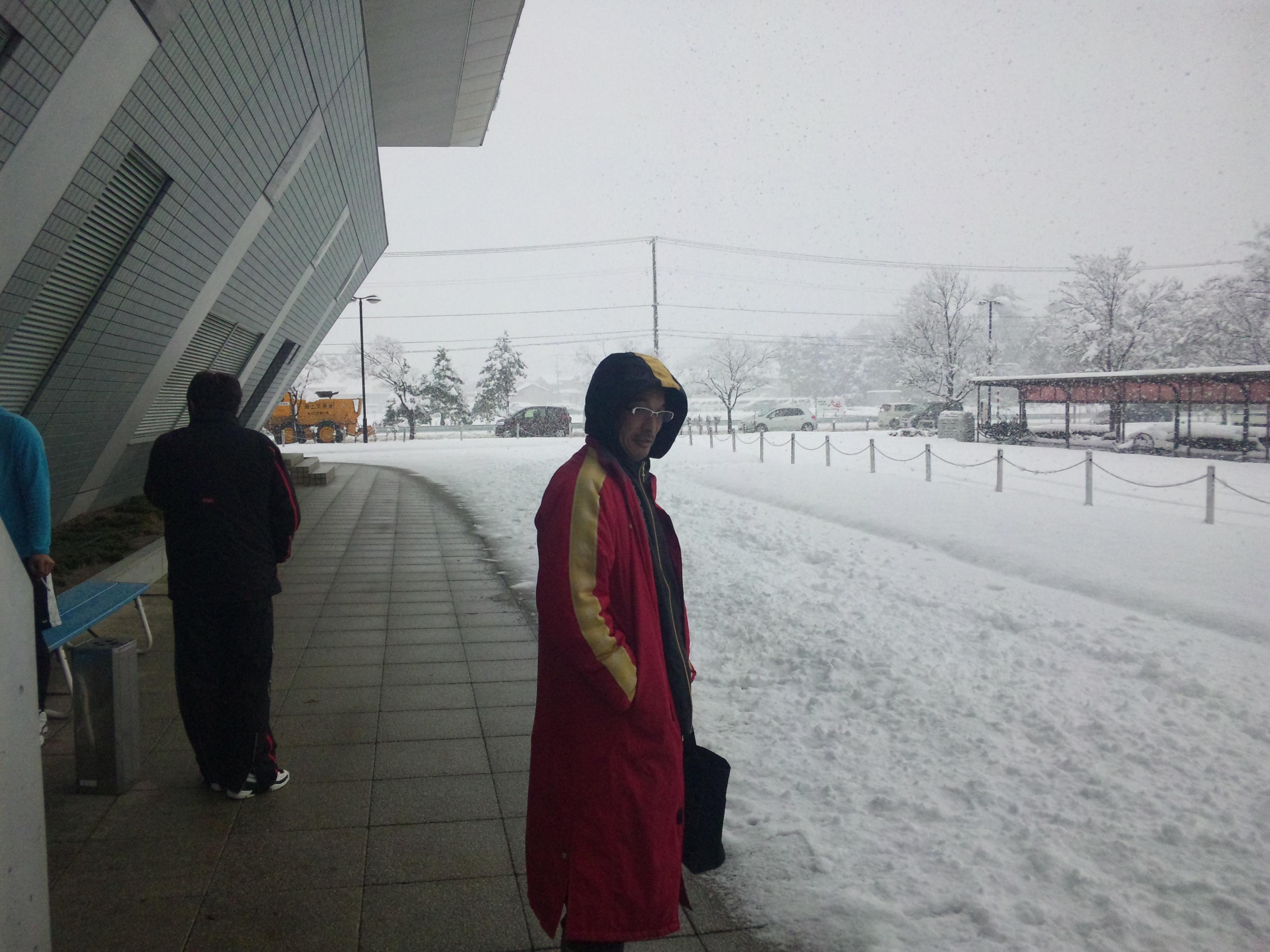 今日の馬場さん雪Ver.