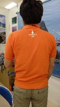 ポロシャツ オレンジ