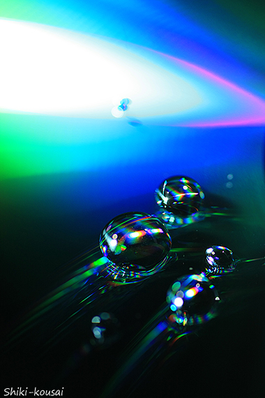光の水玉写真・涼