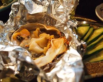 カニ味噌とホタテ甲羅焼