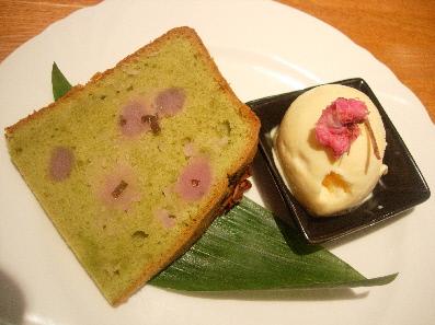 掛川緑茶の春色ケーキ