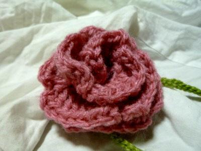 一輪薔薇のフリーブレスレット