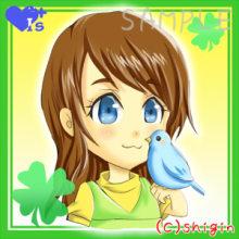 優しい気持ちになれる・なりたい人へ癒しイラストをプレゼント-小鳥 少女