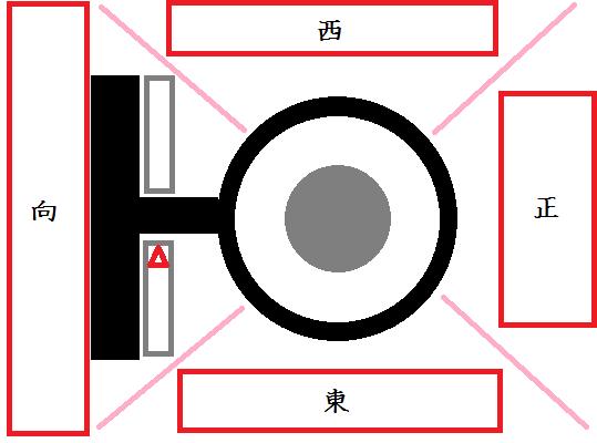 座長公演参の座席配置イメージ