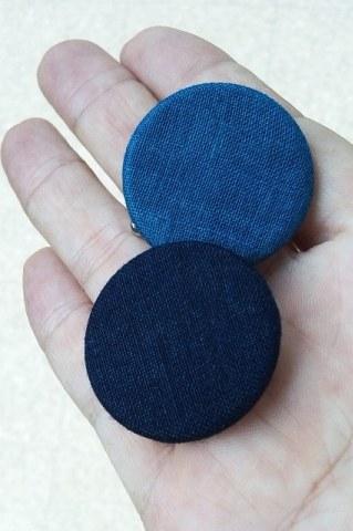 藍染バッチ