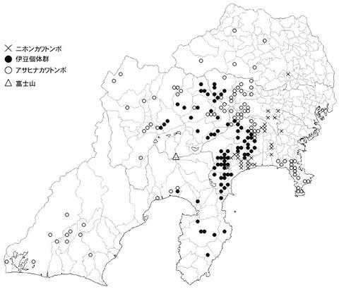 カワトンボ分布図
