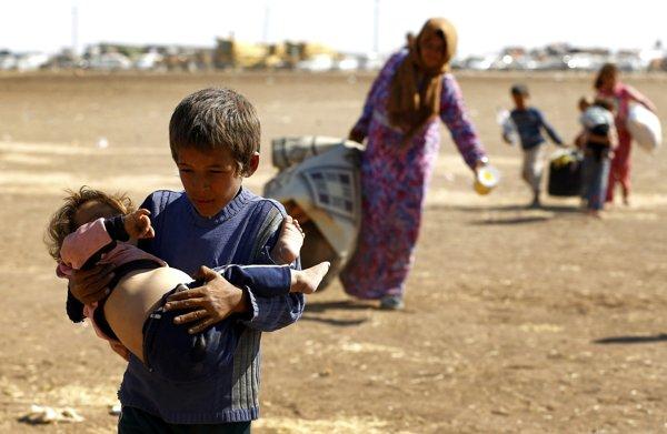 シリア爆撃(シリア難民2014年9月23日)image