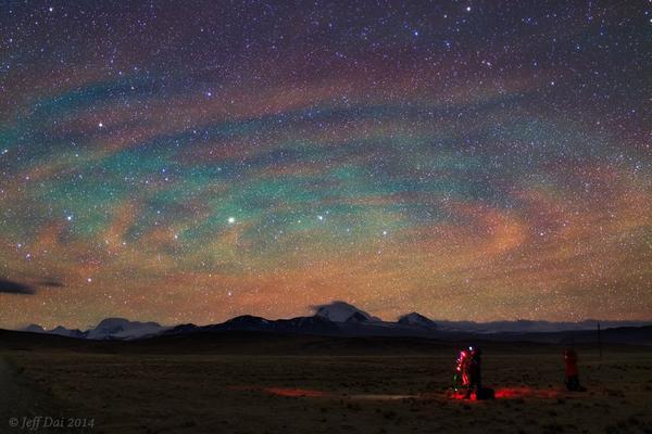 もう一人の(オーロラのある夜空)image