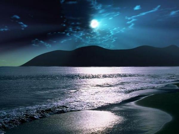 オリオン2(月のある浜辺)image