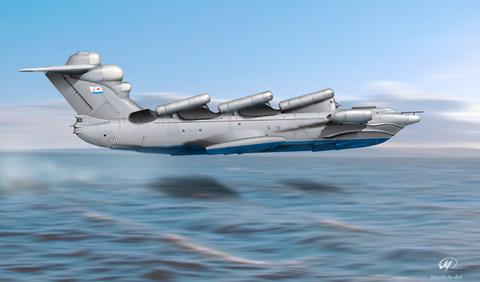 無題(中国の海面潜行飛行機予想図)image