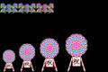 紫陽花と花輪