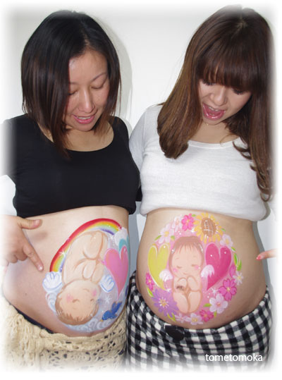 ベリーペイント 2人の妊婦さん