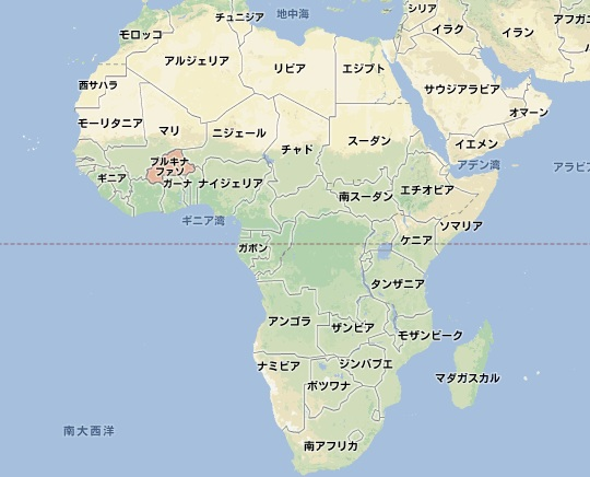 アフリカ全図