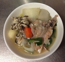 里芋と大根と鮭の粕煮汁♡あったまる〜^^