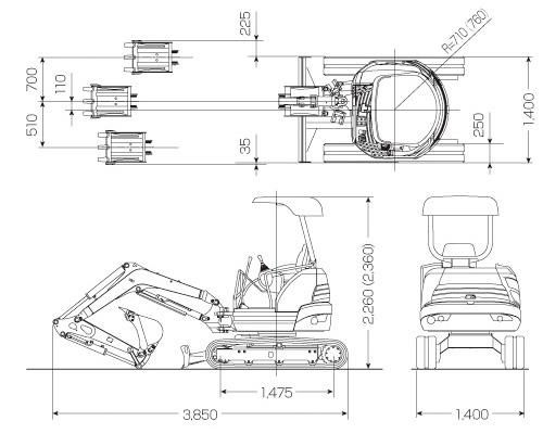 CATミニ油圧ショベル(FIGA(ファイガ)・020 CR)