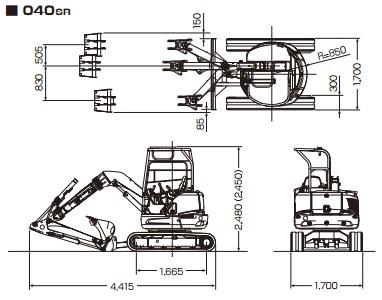 CATミニ油圧ショベル ファイガ(040 SR)
