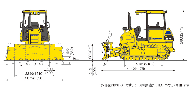 ブルドーザー湿地仕様(D31PX-22)