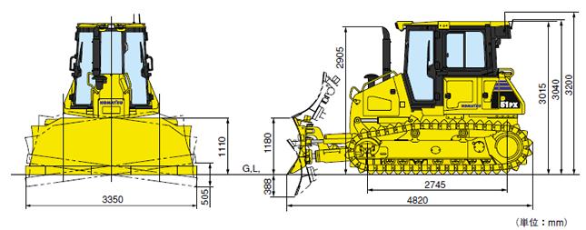 ブルドーザー湿地仕様(D51PX-22)