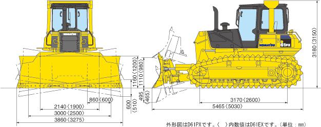 ブルドーザー湿地仕様(D61PX-15E0)