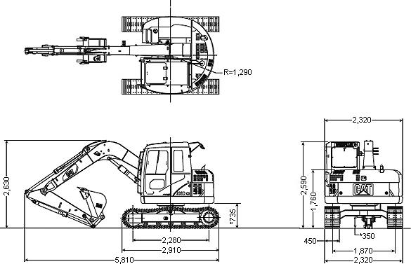 CAT油圧ショベル(308DCR)