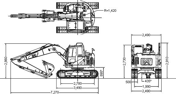 CATミニ油圧ショベル(後方超小旋回機・303C CR)