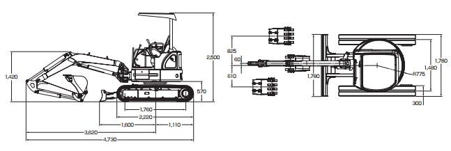 CATミニ油圧ショベル(303.5D CR)