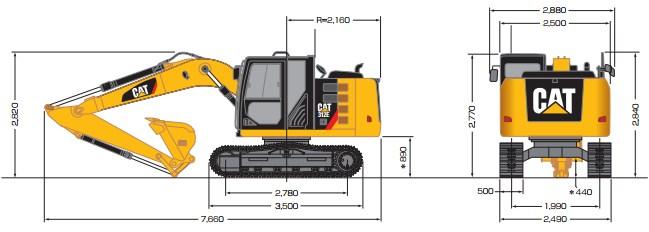CAT油圧ショベル(312E)