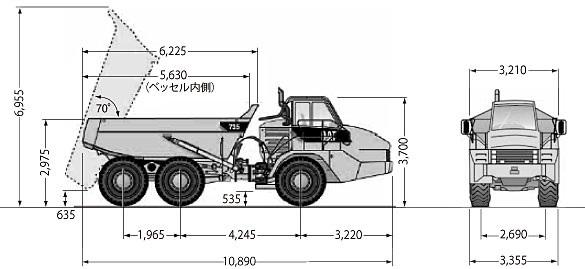 CATアーティキュレートダンプトラック(735)