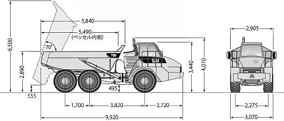 CATアーティキュレートダンプトラック(730)