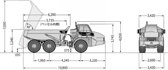 CATアーティキュレートダンプトラック(740)