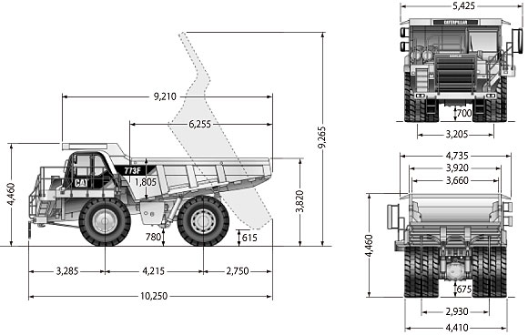 CATダンプトラック(773F)