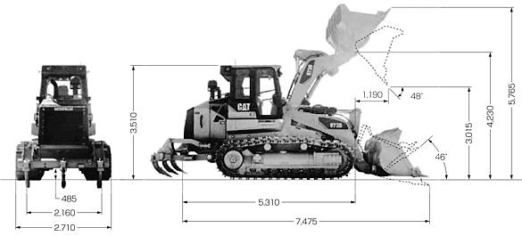 CAT履帯式ローダ(973D)