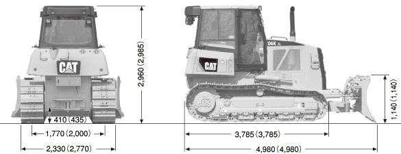 CATブルドーザ((乾地仕様車)・D6K)
