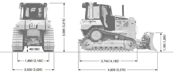 CATブルドーザ((湿地仕様車)・D6N)