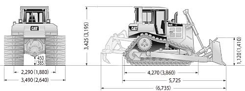 CATブルドーザ((乾地仕様車)・D6R3)