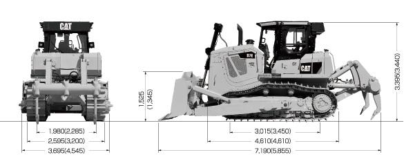 CATブルドーザ((湿地仕様車)・D7E)