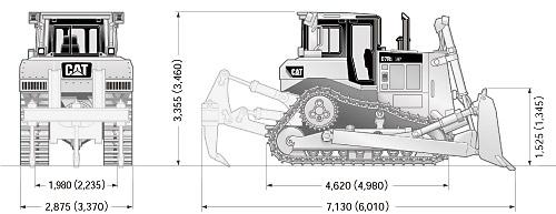 CATブルドーザ((乾地仕様車)・D7R2リッパ付き)