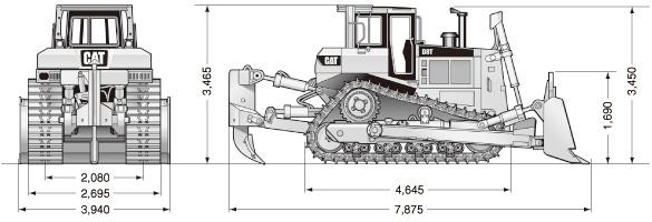 CATブルドーザ((乾地仕様車)・D8Tリッパ付き)