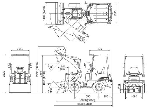 コマツ・ミニホイールローダー(WA10-6/WA20-6)