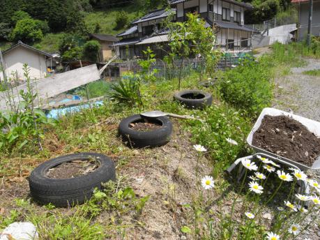 タイヤガーデン3:土をいれる