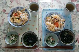母とお昼ご飯