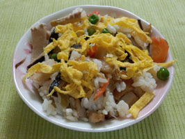 筍干し海老のちらし寿司