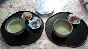 食後のお抹茶