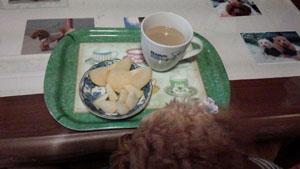 朝食後は梨1
